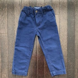 Carter's Blue Chino Flat Front Pants 3T